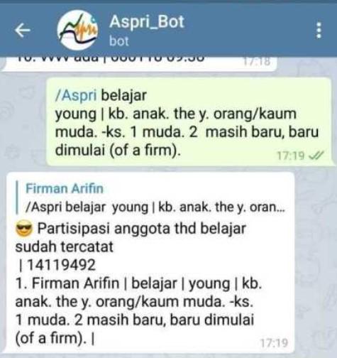 Bot Bahasa Inggris Telegram