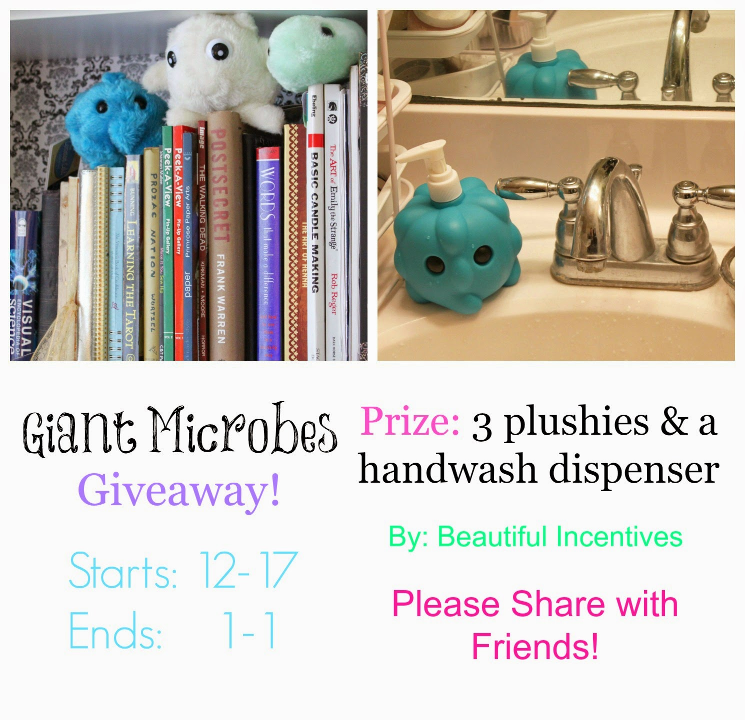 168aa5d945e Germs are ugly...unless it s little plushie germs!