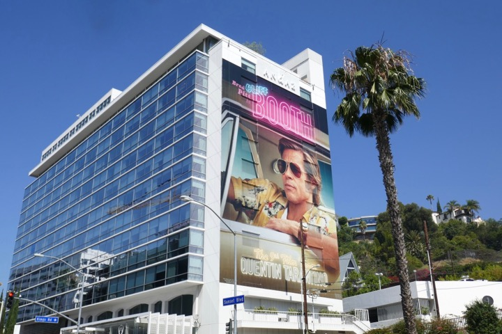 Giant Once Upon Time in Hollywood movie billboard