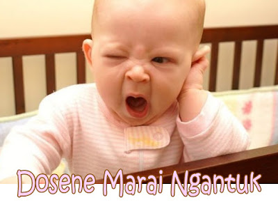 gambar lucu bayi dan tulisan dosen marai ngantuk