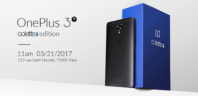 OnePlus 3T colette edition is introduced; custom black color, 128GB storage