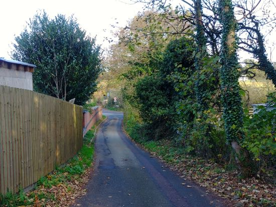 Photograph of Cut through from Swanland Road to Warrengate Road - November 2018  Image by the North Mymms History Project released under Creative Commons