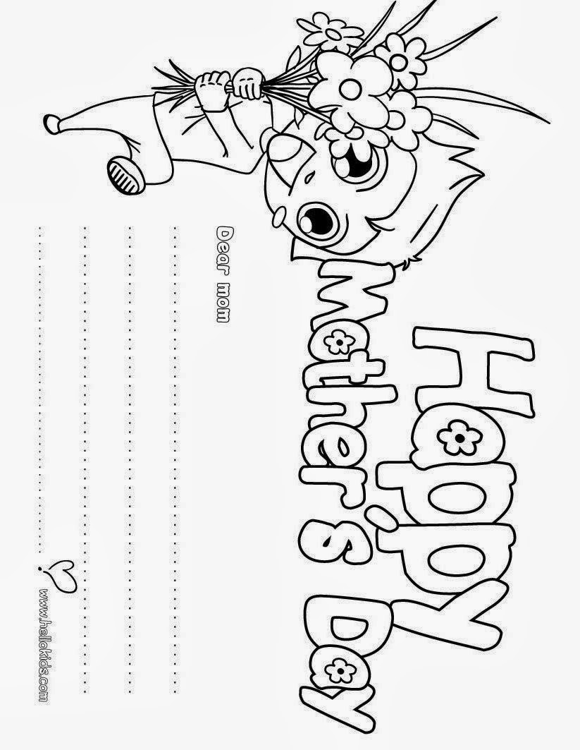 7 printable mother 39 s day cards for kids to color for Coloring pages cards