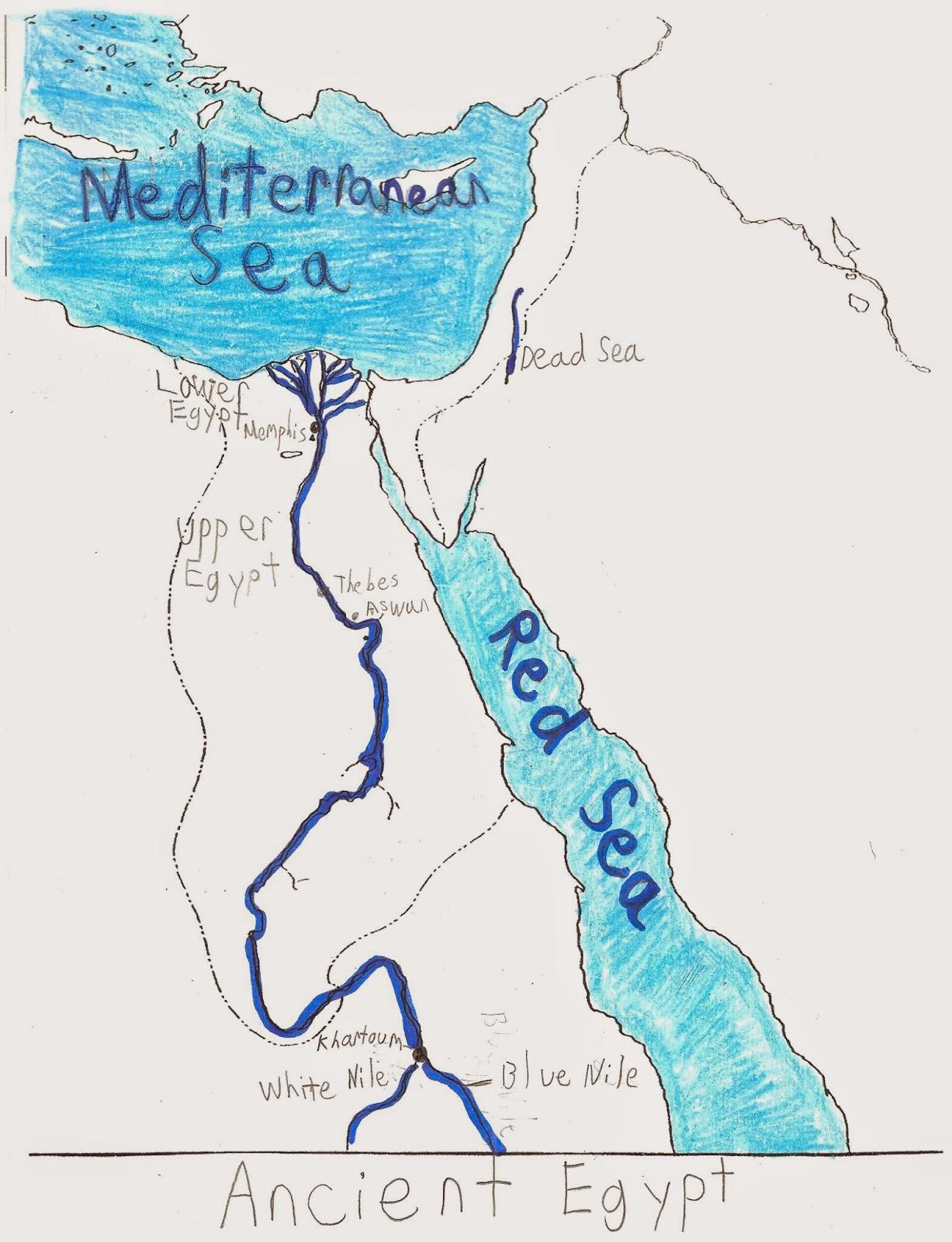 bible map nile river
