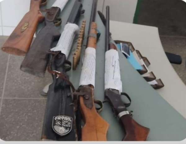 Força Tática apreende cinco armas de fogo em Canindé