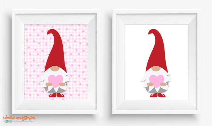 Free Valentine Gnome Printable