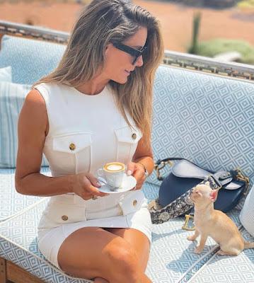 vestito Francesca Fialdini indossato da una modella per Elisabetta Franchi