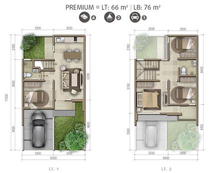 Desain Ruang Tamu Minimalis Ukuran 2x2 lingkar warna denah rumah minimalis ukuran 6x11 meter 4