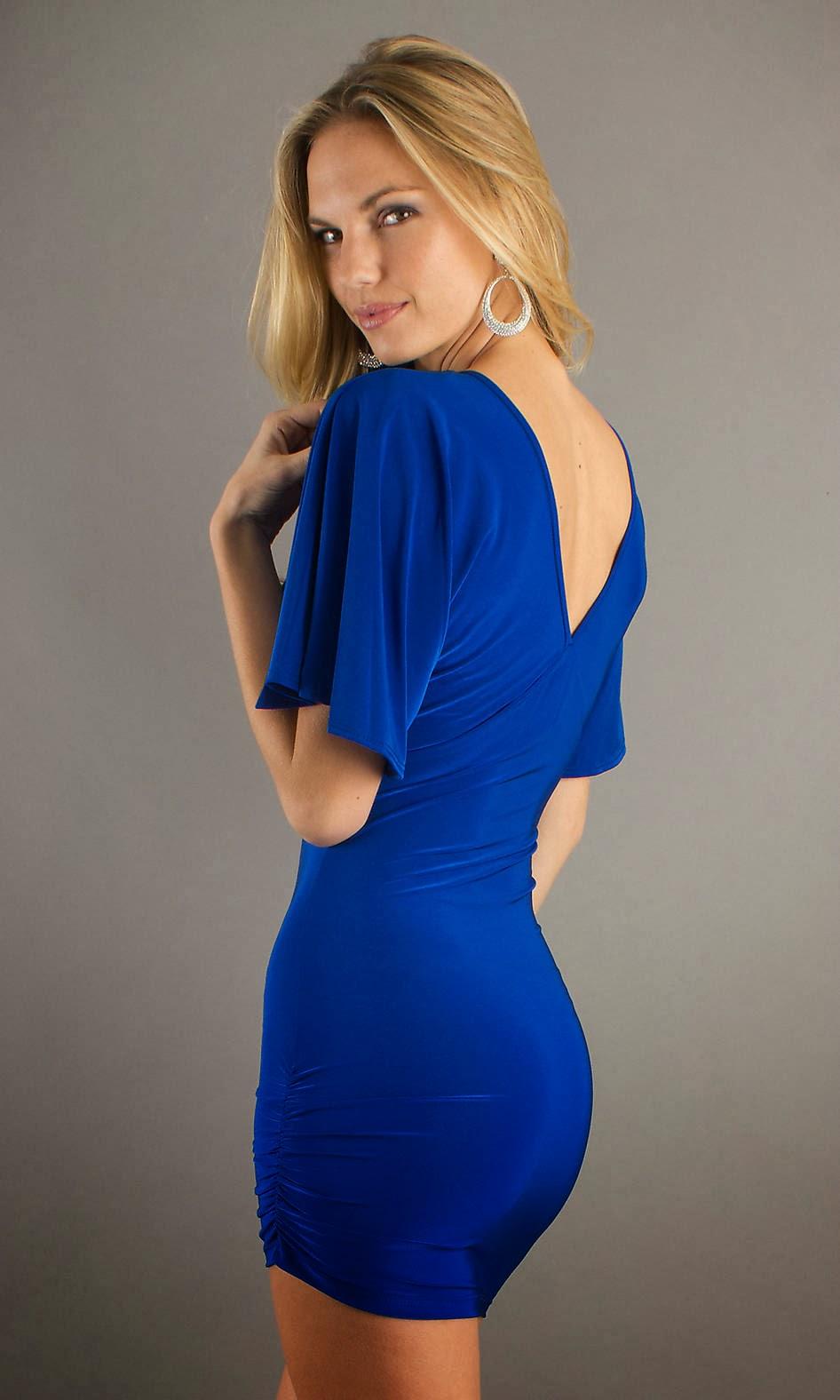 BEAUTY AND FASHION SHORT ROYAL BLUE DRESS