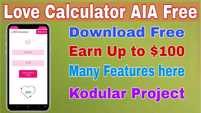 Love calculator AIA file free 2020