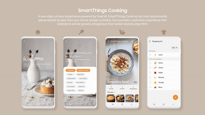 Samsung SmartThings Cooking
