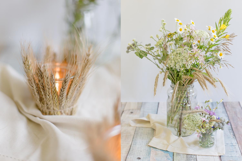 Diy dekoration mit sommerlichen windlichtern aus hren for Hochzeit wohnung dekorieren