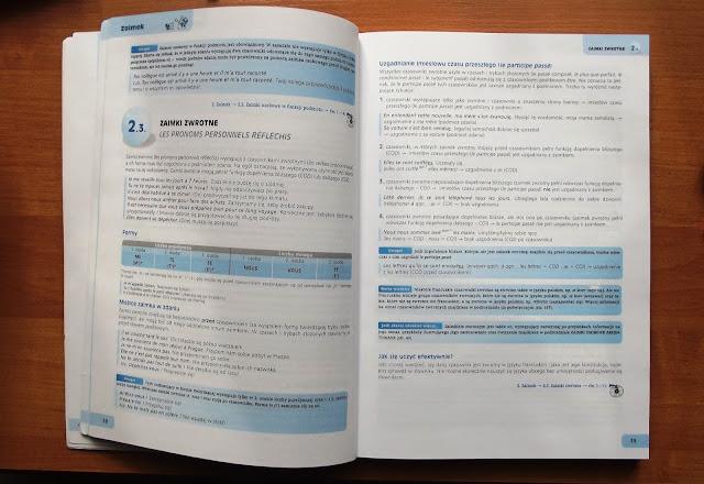 """Recenzje #2 - """"Repetytorium gramatyczne z języka francuskiego"""" - przykładowe strony 1 - Francuski przy kawie"""