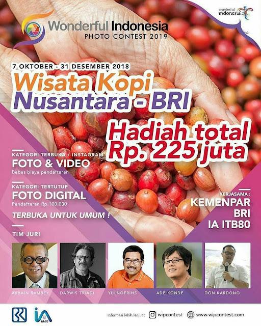 Lomba Foto & Video Wisata Kopi Nusantara BRI 2019 Umum