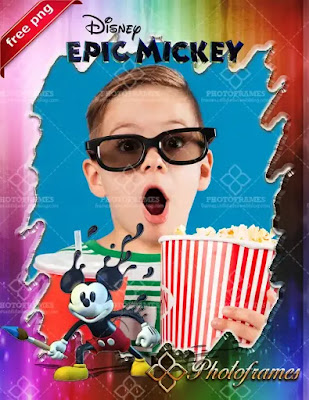 Marco para fotos inspirado en Epic Mickey