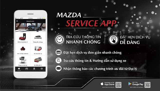 Tiện ích trên Mazda Service App