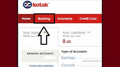 Fund Transfer in Kotak using Mobile app