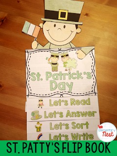 St. Patrick's Day flip book- reading, writing, and comprehension activities for the holiday