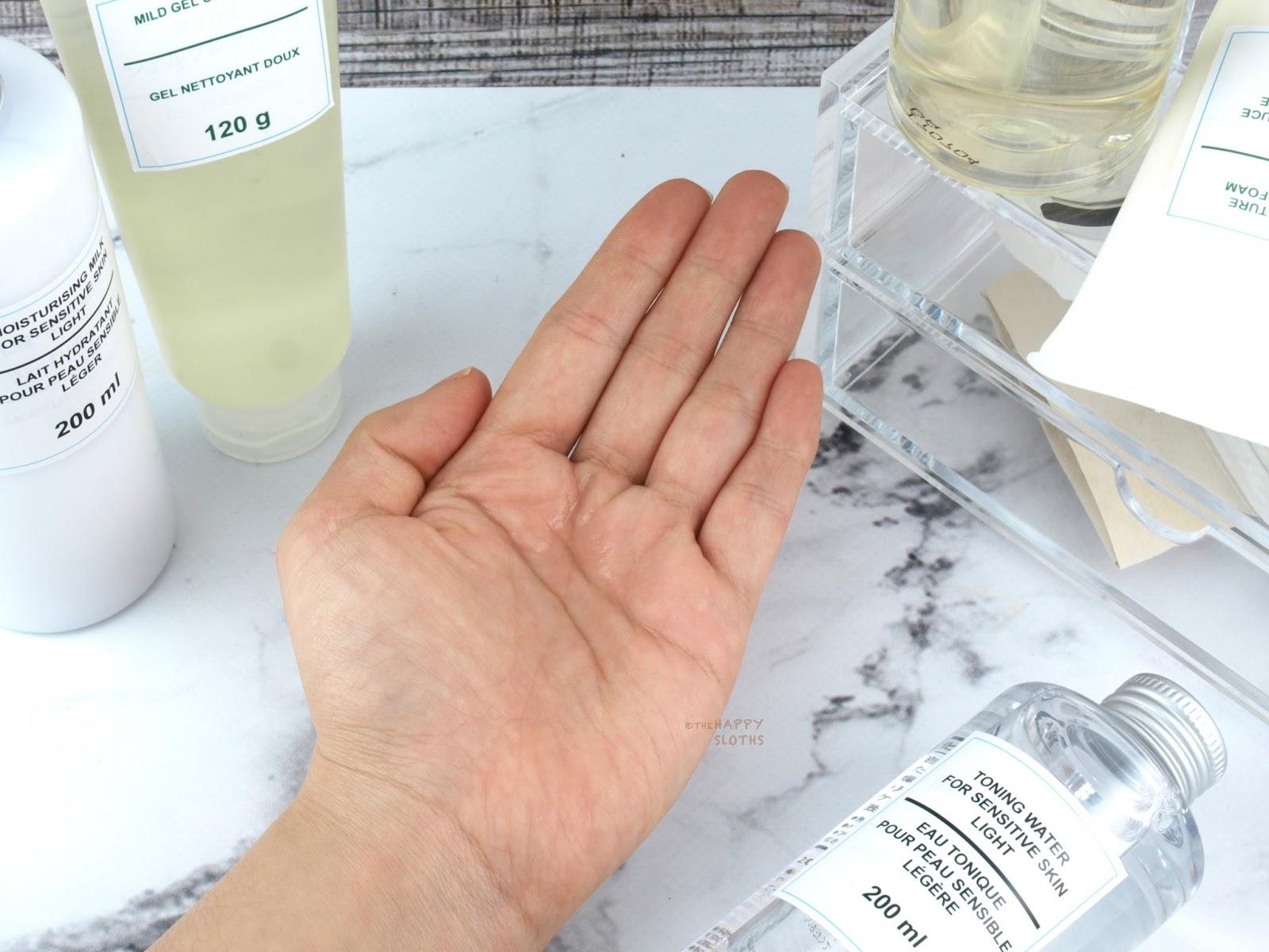 MUJI Skincare   Sensitive Skin Light Toning Water Review