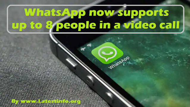WhatsApp New Update Now Allows 8 Users in Video Calls