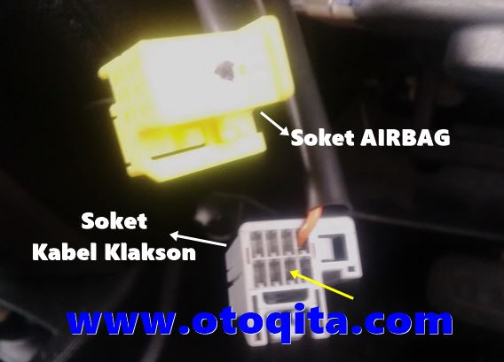 soket air bag dan soket klakson grand livina