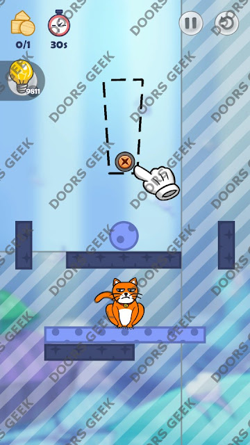 Hello Cats Level 121 Solution, Cheats, Walkthrough 3 Stars for Android and iOS