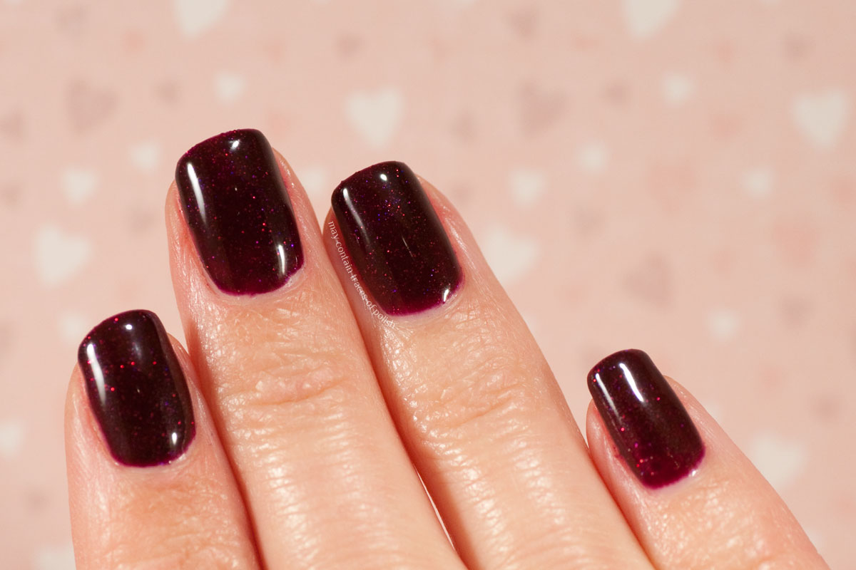 Pink Gellac Boudoir Charm Collection Swatches - 308 Dramatic Red