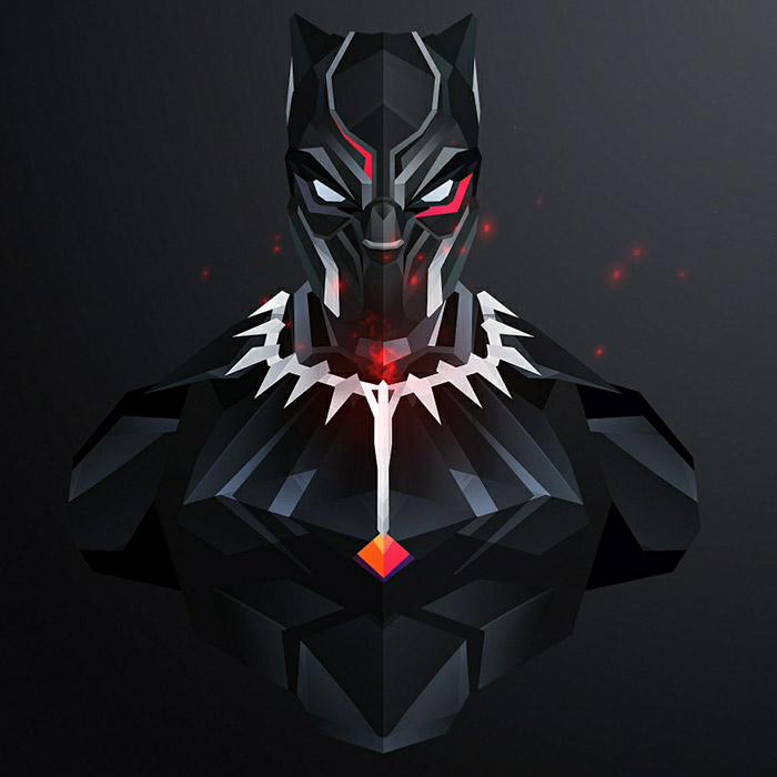 Black Panther Minimalist Wallpaper Engine Download