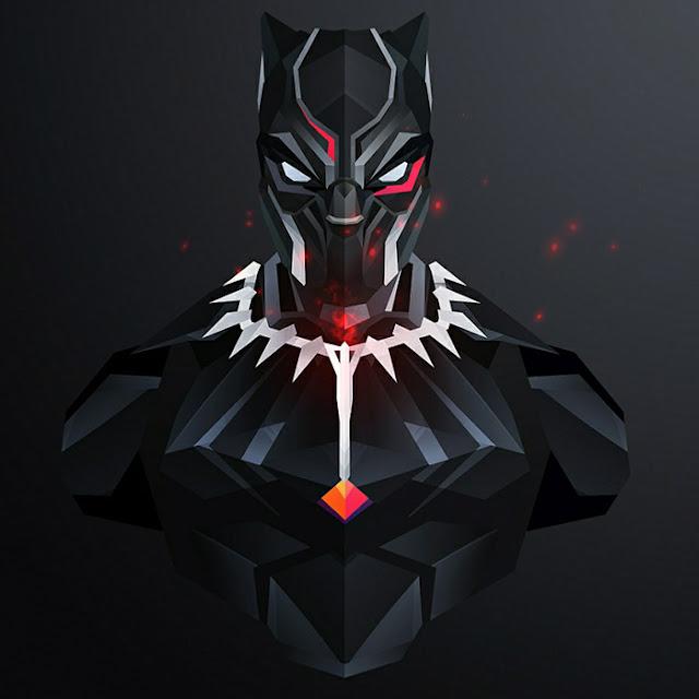 Black Panther Minimalist Wallpaper Engine