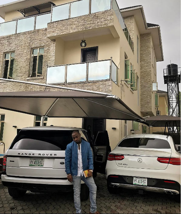 After going to church, Davido shows off mansion, exotic rides, prays for his fans