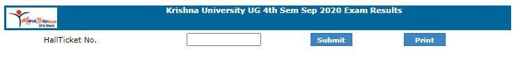 Krishna University Degree Results