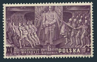 Poland  Polish Legion,25th Annoversary Marshal Pilsudski,Troops