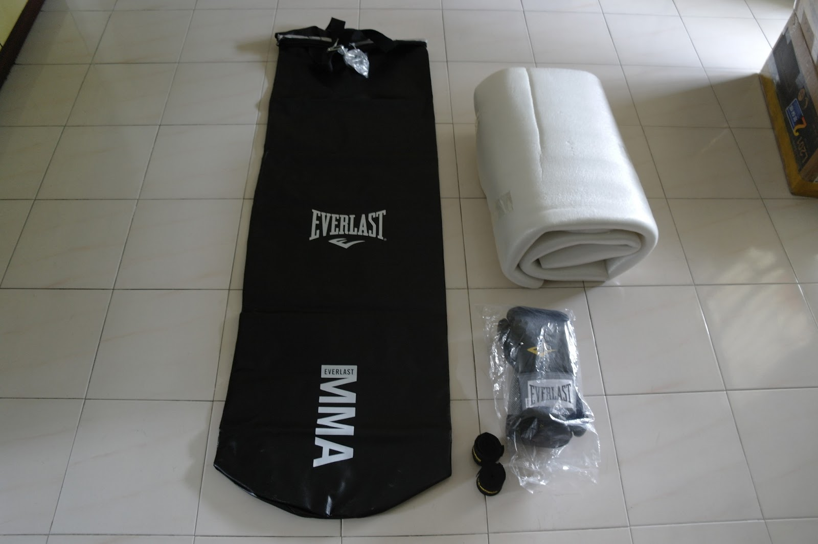 As You Will See In The Pictures Below We Lay Piece Of Foam Around Inner Layer Punching Bag Before Filling Up