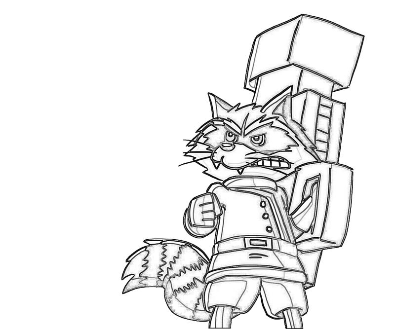 rocket raccoon coloring pages | Rocket Raccoon Pages Coloring Pages