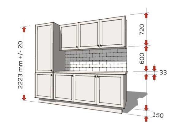 Kích thước tủ bếp tiêu chuẩn hiện nay