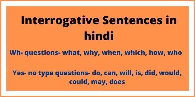 Interrogative sentences in hindi