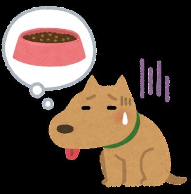 空腹な犬のイラスト