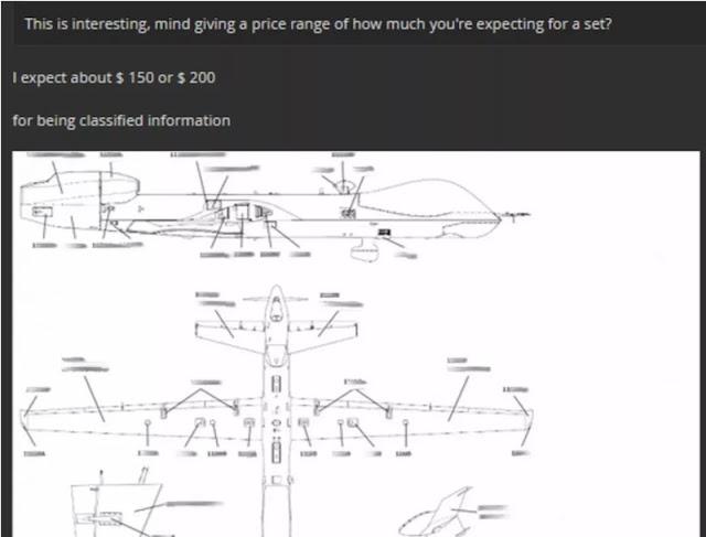 Hacker tenta di vendere un manuale di un drone militare sul Dark Web per 200$