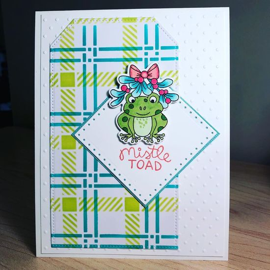 Mistle Toad by Mary features Plaid and Mistle Toad by Newton's Nook Designs; #newtonsnook