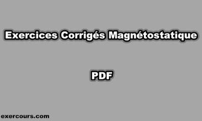 Exercices Corrigés Magnétostatique PDF