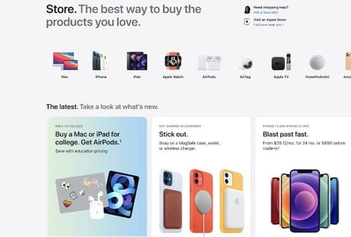 Apple launches a major redesign of its online store