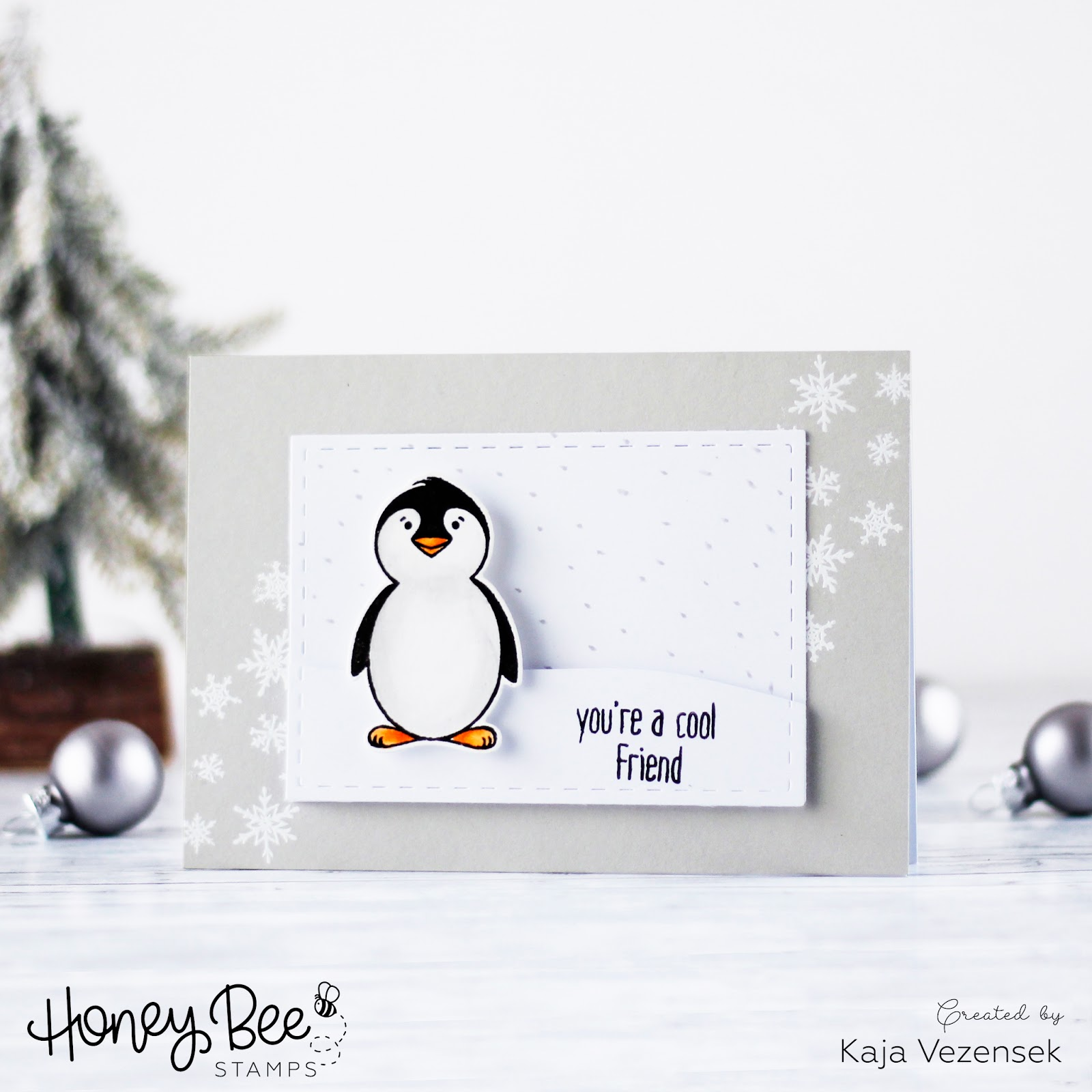 Last minute Christmas card | Honey bee