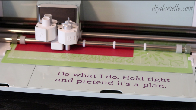 Cricut Air 2, printing a box template.