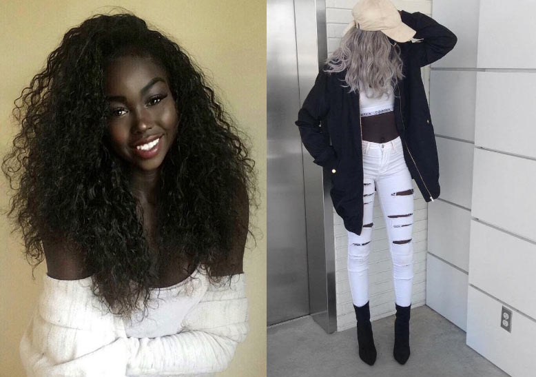 Sudanese model and blogger, Nyla Lueeth, dazzles the Internet with her sheer black beauty