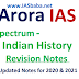 Arora IAS Indian History Revision Notes PDF Download in Hindi for IAS & State PCS Exams