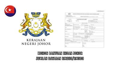 Borang Permohonan Bantuan Ihsan COVID-19 Johor Khas RM250/RM500