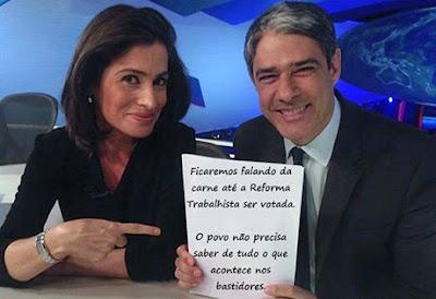 Willian Bonner da Globo Lista de Deputados que votaram  A FAVOR da terceirização do trabalho e contra os trabalhadores