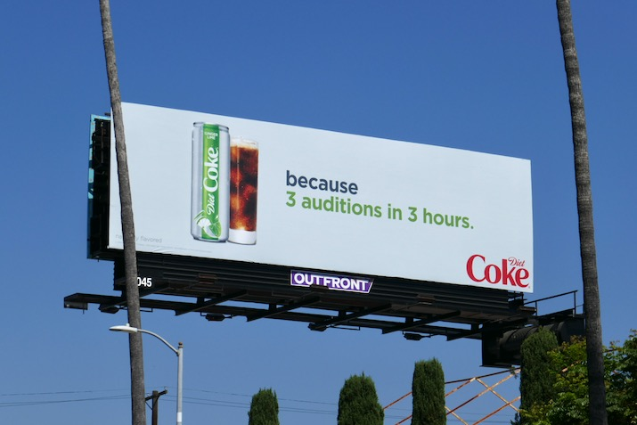 Diet Coke 3 auditions 3 hours billboard