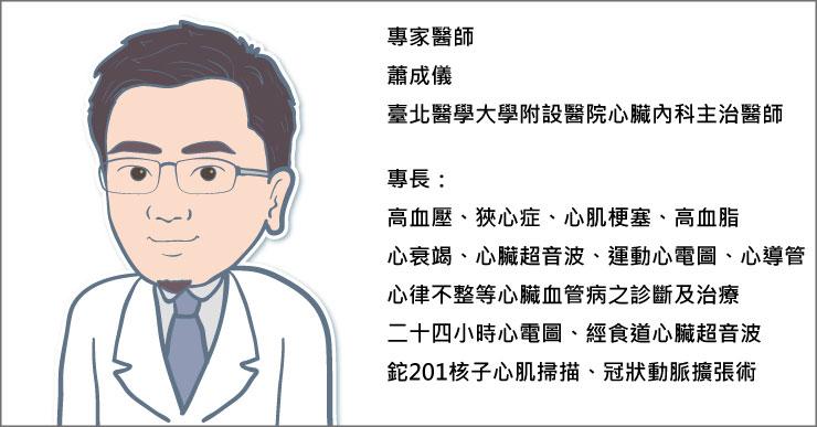 臺北醫學大學附設醫院心臟內科蕭成儀醫師