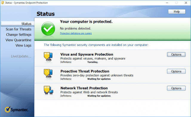 Screenshot Symantec Endpoint Protection 14.2.4815.1101 Full Version